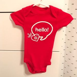 d134eadc9 Target One Pieces - Target Baby onesie red headband stork 3-6M ⭐️HP⭐